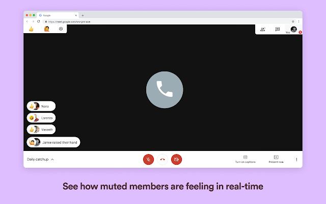 nod emojis para google meet