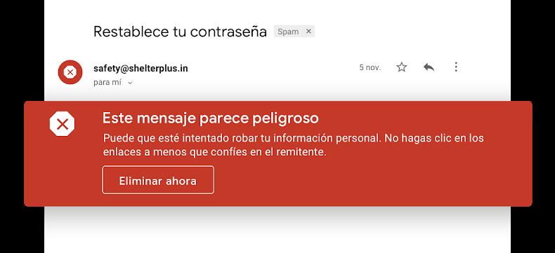 detección correos Gmail
