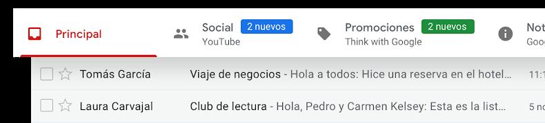 organización mails en Gmail